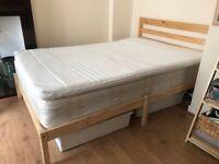 Compete bed set (bed frame, mattress, topper, duvet and pillows)
