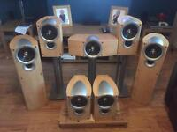 Kef Q Speakers tremendous sound quality plus 4 mission stands upgrade your home cinema,or audio