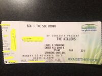 SOLD - The Killers Ticket Hydro 20 November
