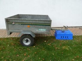 Daxara 126 Galvanised 4ft x 3ft Trailer - dropdown Tailgate and fitted lights