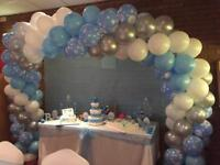 Baby Shower Party Celebration - Balloon Arch - Cake Table