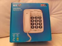 Large Corded 'Big Button' Home Phone ( Ideal For The Visually Impaired )