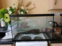 Glass tank for hamster, gerbil or fish
