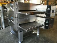 Lincoln Impinger 1633NG Low Profile 32 inch Gas Conveyor pizza oven Double Stack