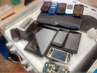 Job lot of mobile phone also tablet and sky HD box