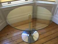 Glass Topped Dining Table - 4 Seater