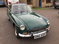 1976 MGB GT Green. Practical classic car