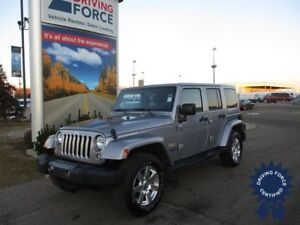 2015 Jeep Wrangler Unlimited Sahara 4X4, Leather Seats, Soft Top