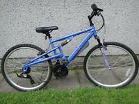 Apollo Endeavour bike 26 inch wheels, 18 gears, 17 inch frame, full suspension, excellent condition