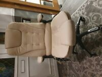 Executive Office Chair - Cream Leather