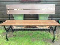 Refurbished cast iron garden bench free local delivery