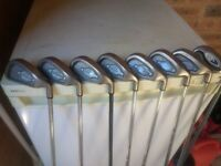 Callaway X12 irons. 3-9 and wedge. All steel shaft assist from 5 iron and PW which is graphite