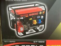 2.8Kva 2.240 Watts electrical generator. BNIB + Fly lead. never used. collection only.