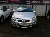 56 PLATE VAUXHALL CORSA 1.4 SXI 3DR IN SILVER 60K FSH
