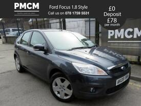 FORD FOCUS 2008 1.8 5Door - ONLY 39875 MILES - JUST SERVICED - asta megane golf (grey) 2008