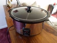 Partitioned Morphy Richards Slow Cooker.