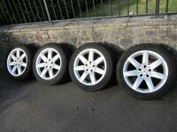 "MERCEDES-BENZ SL CLASS CL CLASS E CLASS 17"" 7-SPOKE STYLE ALLOY WHEELS WITH CONTINENTAL TYRES."
