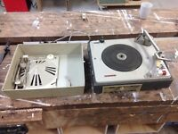Vintage Philips Diamond Portable Record Player, Spares or Repairs