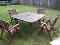 Solid Wood Garden Furniture -Table and Chairs
