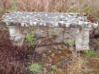 Concrete Garden Seat / Bench