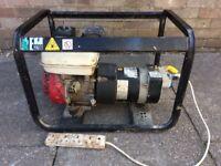 Honda engined 2.5 kva generator