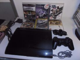 Playstation 3 Super Slim console 1 contoller 6 good games