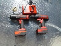 Snap on 18v cordless impact wrench and drill