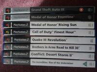 PS2 Sony Playstation 2 bundle 8 games