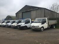 Ford transit tippers dropsides Luton tail lifts
