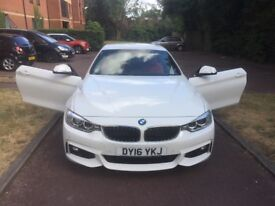 BMW 4 series white convertible red interior