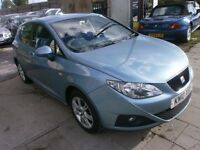 2010 SEAT IBIZA 1.4 SE 5DOOR, HATCHBACK, SERVICE HISTORY, HPI CLEAR, DRIVES VERY NICE, CHEAP TO RUN