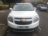 CHEVROLET ORLANDO LT 1.8 PETROL MANUAL 7 SEATER (MPV) WITH GENUINE LOW MILEAGE 41.747. STUNING WHITE