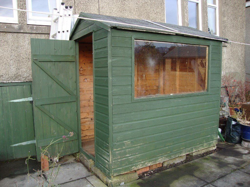 garden shed 7 x 5 feet 20 years old to uplift west edinburgh - Garden Sheds Edinburgh