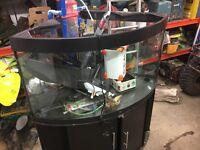 Corner jewel fish tank