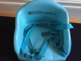 Blue boaster chair
