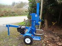 22 ton Log Splitter hire West Wales