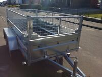 New trailer 8.7 x 4.1 twin axle-build, side and mesh £ 1100 inc vat