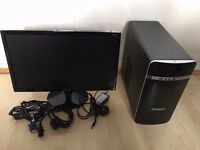 Quad Core Desktop PC, 8GB Ram + Monitor Combo