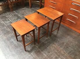 Danish Style Nest of Tables. Retro Vintage Mid Century