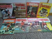 Set of 8 collectible retro The Topical Times football books 1971 - 1978 Good condition