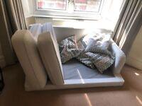 Floor sofa and pillows
