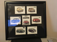 Mini Cooper collectors card - framed picture