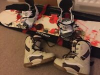 Hardly used Rossignal 137cm board with bindings & Vans boots size 37/4.5