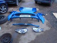 Peugeot 206 Front End Bonnet Bumper Wings Lights Blue KMF