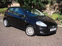 EXCELLENT CAR!! BLACK 2008 FIAT GRANDE PUNTO 1.2 ACTIVE 3dr, LONG MOT, FSH, WARRANTY