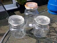 3 x Kilner jars