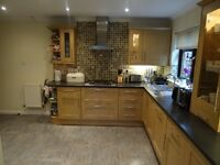 Full Kitchen & Utility - cabinets, worktop, sinks & Appliances