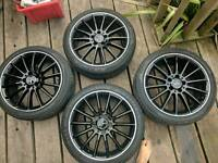 "Mercedes AMG 18"" multi spoke alloy wheels"