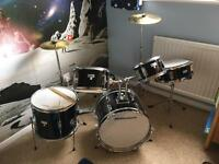 Millennium 7 piece junior drum kit