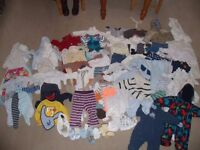 Boys baby clothes mostly 0-3 months. Approx 60 items. Clean good quality, smoke and pet free £50 ono